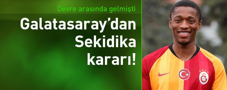 Galatasaray'dan Jesse Sekidika kararı