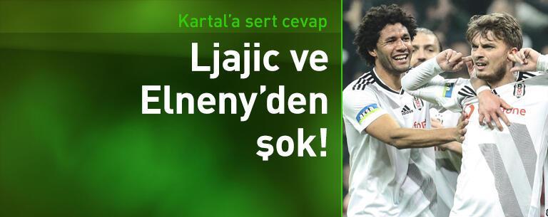 Ljajic ve Elneny'den Beşiktaş'a şok!