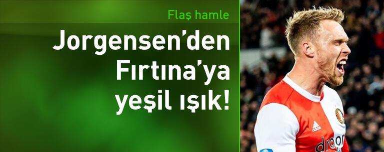Jorgensen'den Trabzonspor'a yeşil ışık!