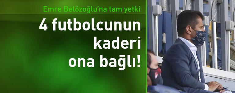 Fenerbahçe'de 4 ismin kaderi Emre Belözoğlu'na bağlı