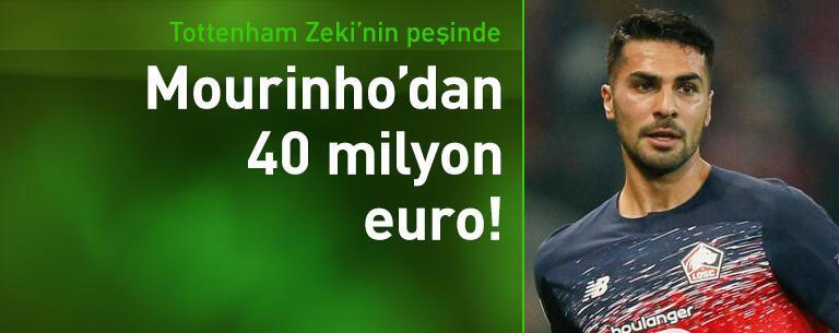 Mourinho'dan Zeki Çelik'e 40 milyon euro!