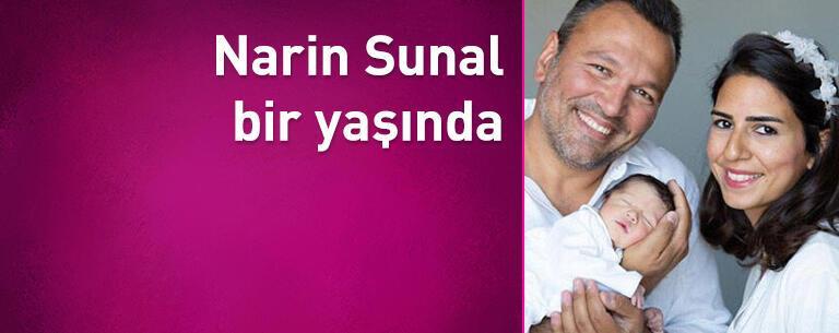 Narin Sunal bir yaşında