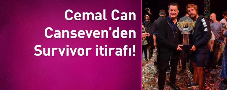 Cemal Can Canseven'den Survivor itirafı!