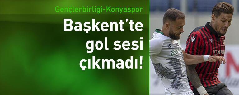 Gençlerbirliği - İttifak Holding Konyaspor: 0-0