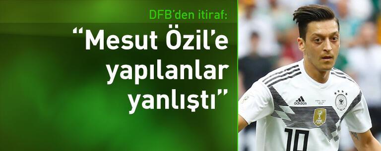 DFB'den itiraf: Mesut Özil'e yapılanlar yanlıştı