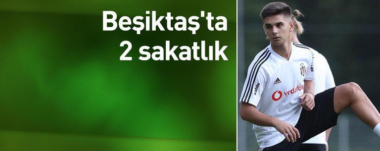Beşiktaş'ta 2 sakatlık