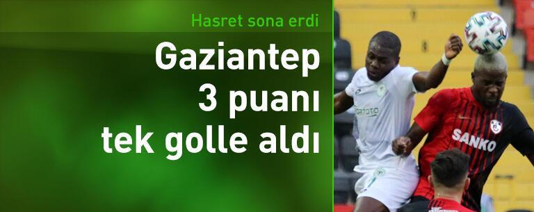 Gaziantep FK - Konyaspor: 1-0