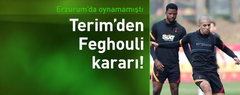 Galatasaray'da Feghouli kararı!