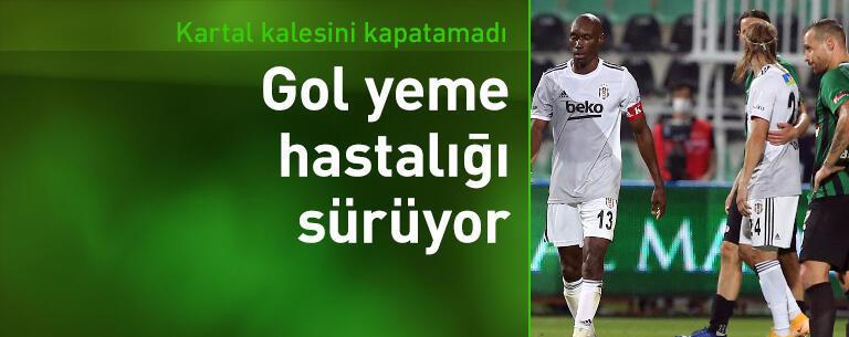 Beşiktaş'ta gol yeme hastalığı sürüyor