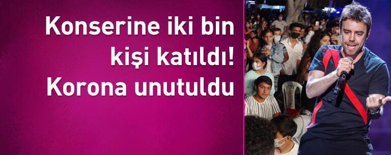 Murat Dalkılıç konserine iki bin kişi katıldı! Korona unutuldu