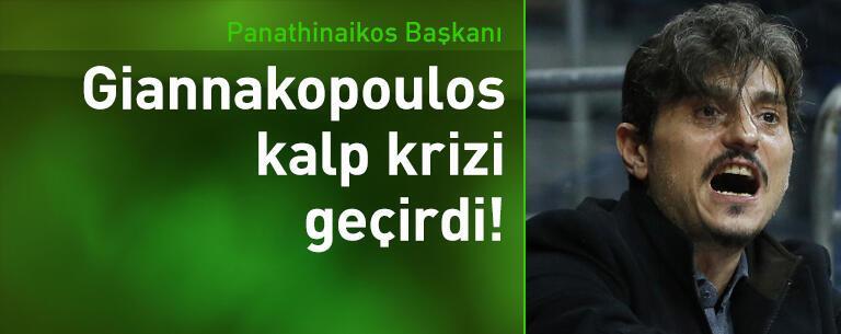 Panathinaikos Başkanı Giannakopoulos kalp krizi geçirdi