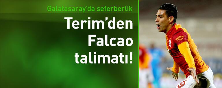 Fatih Terim'den Falcao talimatı!