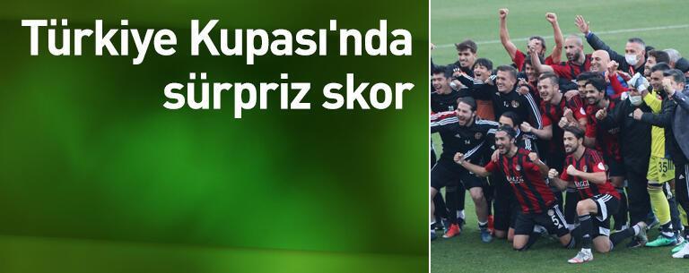 Türkiye Kupası'nda sürpriz skor