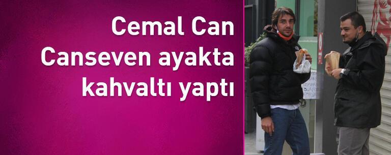 Cemal Can Canseven ayakta kahvaltı yaptı