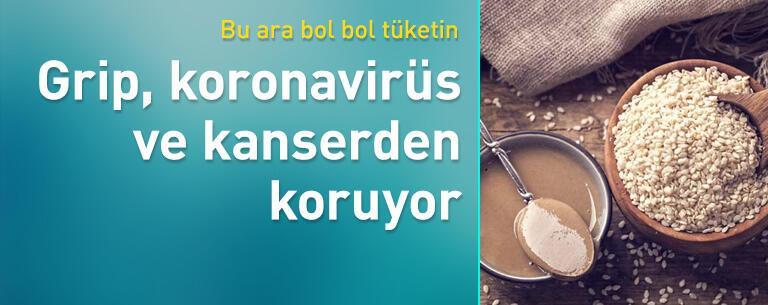 Grip, koronavirüs ve kanserden koruyor!