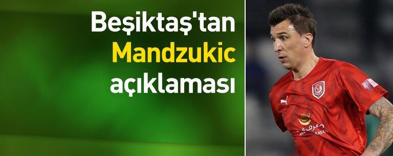 Beşiktaş'tan Mandzukic açıklaması