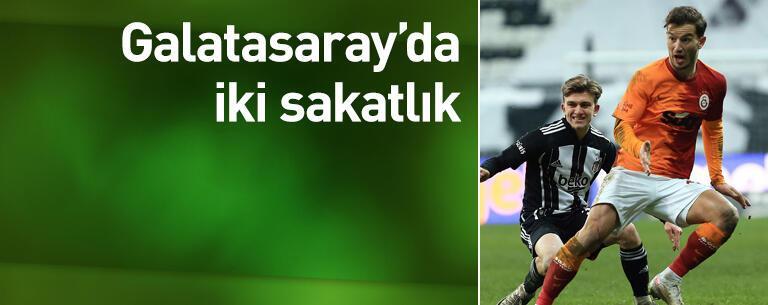 Galatasaray'da iki sakatlık