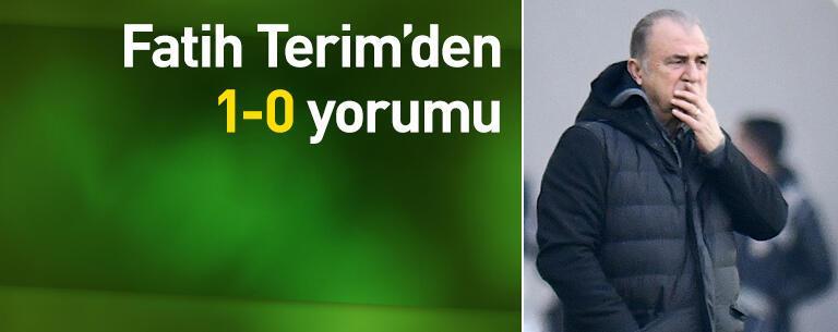Fatih Terim'den 1-0 yorumu