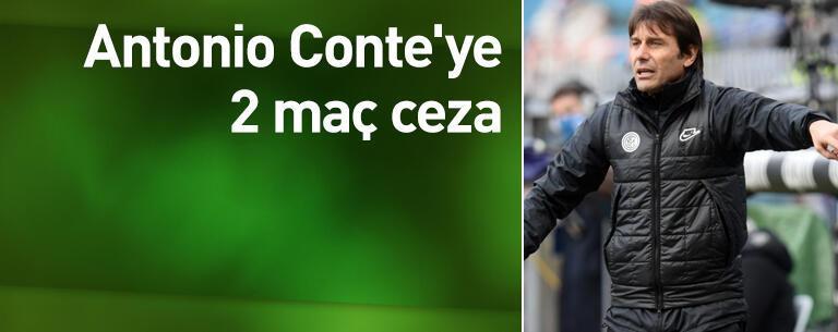 Conte'ye 2 maç ceza