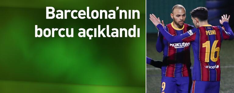 Barcelona'nın borcu açıklandı