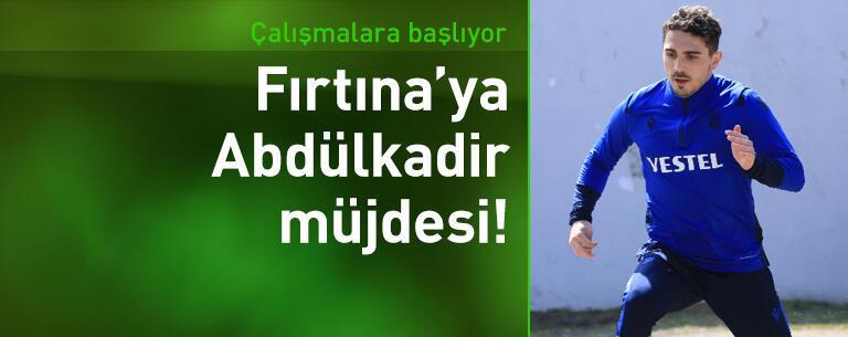 Trabzonspor'a Abdülkadir Ömür müjdesi!