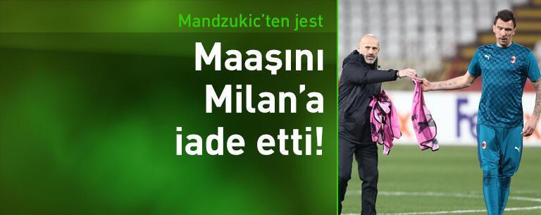 Mandzukic maaşını Milan'a iade etti