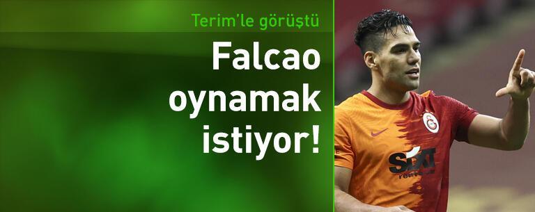 Falcao son maçta oynamak istiyor!
