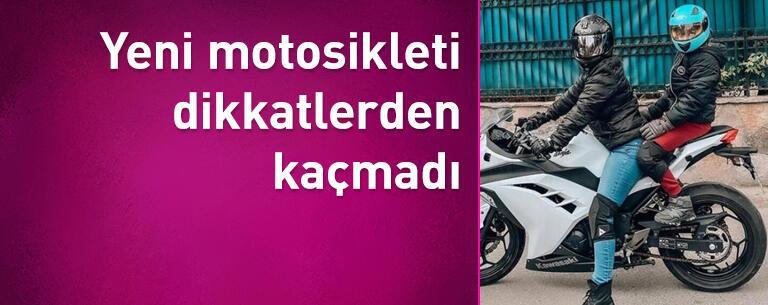 Yağmur Sarıoğlu'nun yeni motosikleti dikkatlerden kaçmadı