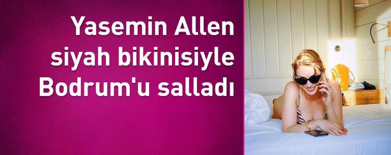 Yasemin Allen siyah bikinisiyle Bodrum'u salladı