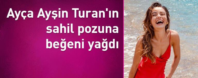 Ayça Ayşin Turan'ın sahil pozuna beğeni yağdı