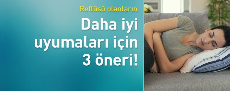 Reflüsü olanların daha iyi uyumaları için 3 öneri!