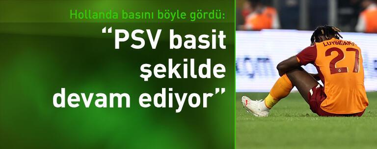 Galatasaray-PSV maçı Hollanda'da manşetlerde