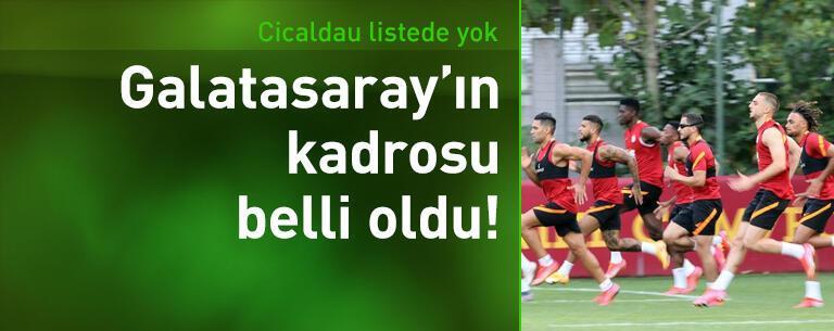 Galatasaray'ın St. Johnstone maçı kadrosu belli oldu