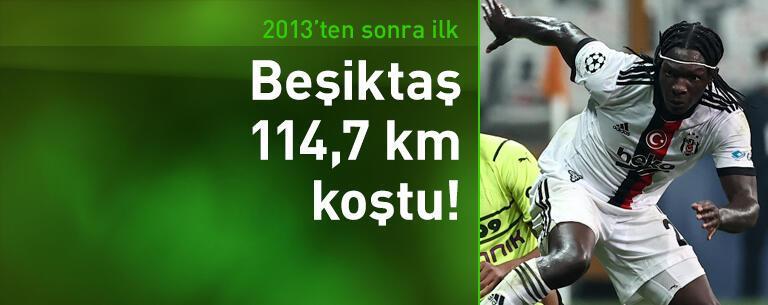 Beşiktaş 2013'ten bu yana en çok koşan Türk takımı oldu