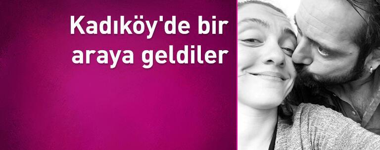 Merve Dizdar ile Gürhan Altundaşar, Kadıköy'de bir araya geldi