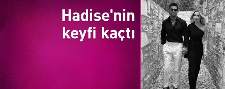 Mehmet Dinçerler ile görüntülenen Hadise'nin keyfi kaçtı