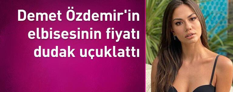 Demet Özdemir'in elbisesinin fiyatı adeta dudak uçuklattı