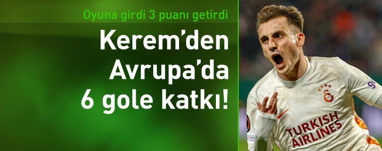 Kerem'den Avrupa'da 6 gole katkı!