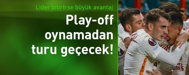 Galatasaray lider bitirirse play-off oynamadan turu geçecek