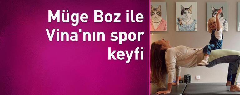Müge Boz ile Vina'nın spor keyfi