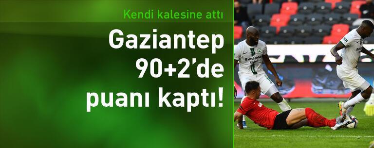 Gaziantep FK - GZT Giresunspor: 1-1