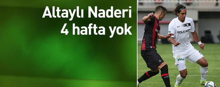Mohammad Naderi 4 hafta yok