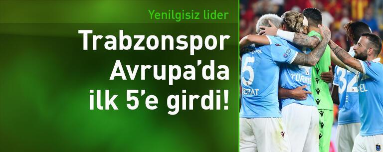 Trabzonspor Avrupa'da ilk 5'e girdi!