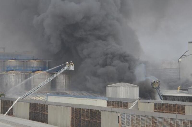 Güngören'de fabrika yangını
