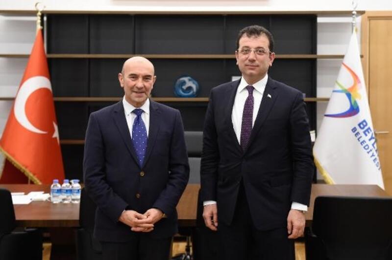 CHP izmir Adayı Tunç Soyer'den Ekrem İmamoğlu'na destek ziyareti