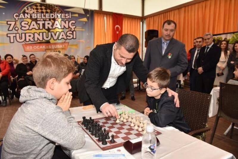Çan'da Satranç Turnuvası heyecanı başladı