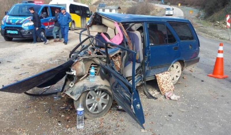 Uludağ yolunda kaza: 1 ağır yaralı