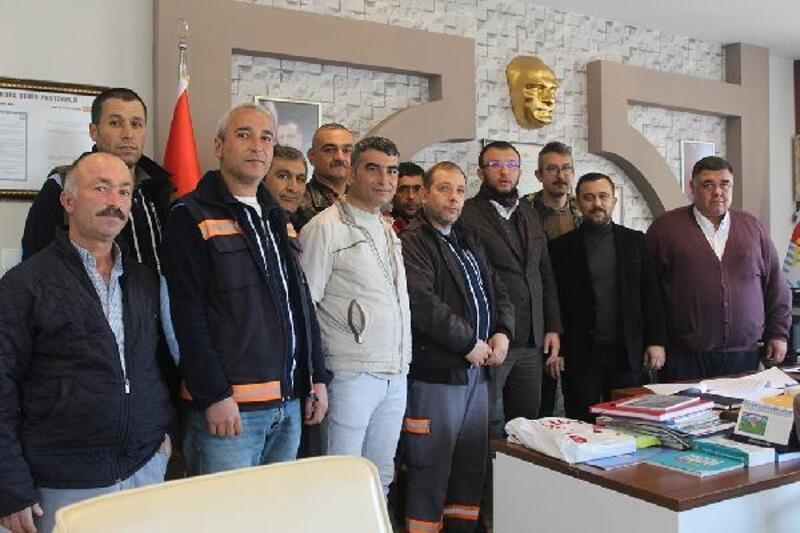 Umurbey Belediyesi'nde işçilere %25 zam yapıldı