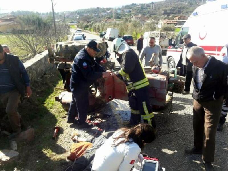 Traktör devrildi; sürücü öldü, komşusu yaralı