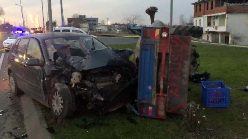 Patpat otomobille çarpıştı: 1 ölü, 3 yaralı
